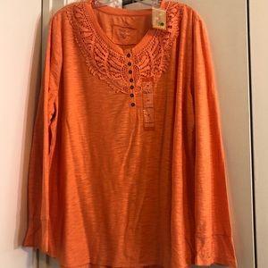 3 for $ 25 NorthCrest orange shirt in size 2X NWT